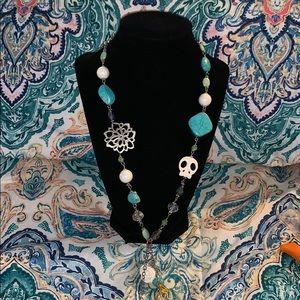 Jewelry - Handmade long skull necklace